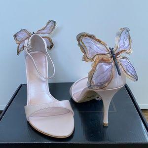 Soft pink butterfly heels
